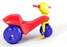 trehjuling för plast- 3D Royaltyfri Foto