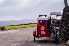 Trehjulingtrans.service på Batanes, Filippinerna royaltyfria bilder