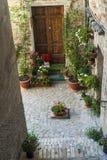 Treia (3月,意大利) 免版税库存图片