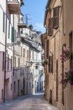 Treia (Marsen, Italië) Stock Foto