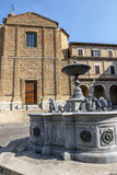 Treia (Marsen, Italië) Royalty-vrije Stock Fotografie
