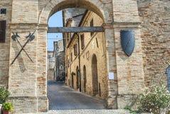 Treia (Marsen, Italië) Stock Fotografie