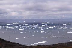 Treibeisarktis Grönland Stockbild
