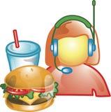 Treiben Sie durch Nahrungsmittelbediener Ikone an Stockbild