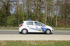Treiber-Schulauto-Fahren Stockbild