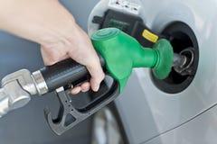 Treibstoff-Tanksäule-Detail Stockfotografie