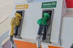 Treibstoff-Tanksäule nicht verbleit Stockfotografie