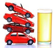 Treibstoff und Autos Stockfoto