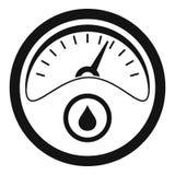 Treibstoffarmaturenbrettikone, einfache Art stock abbildung