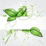 Treibt Hintergrund Blätter lizenzfreie abbildung