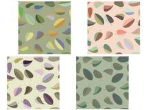 Treibt nahtloses Muster Blätter. Lizenzfreies Stockbild