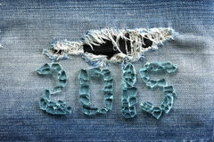 Treillis bleu de denim avec le nombre Image libre de droits