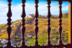 Treillis de fenêtre à Alhambra Photo libre de droits