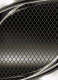 Treillis métallique, fond noir Images libres de droits