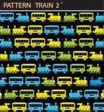 Trein 2 van het patroon Stock Foto