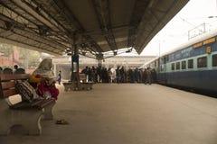Trein aan Jaipur Stock Foto's