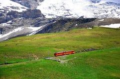 Trein aan Jungfraujoch. Zwitserland. Stock Foto's