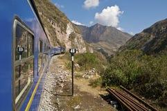 Trein aan Machu Picchu Stock Afbeeldingen