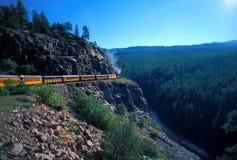 Trein aan Silverton Stock Afbeelding