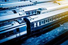Trein bij Spoorwegpost in Peking royalty-vrije stock foto