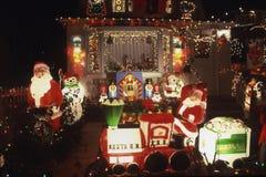 Trein de Kerstman. Royalty-vrije Stock Foto's
