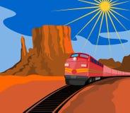 Trein die met canion reist Stock Afbeelding