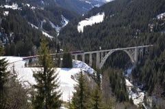 Trein en brug Royalty-vrije Stock Afbeelding