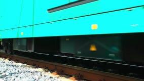 Trein en van het Wagensvervoer Spoorwegen in Duitsland stock video