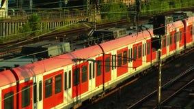Trein en van het Wagensvervoer Spoorwegen in Duitsland stock videobeelden