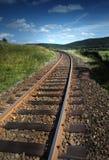 Trein in het landschap royalty-vrije stock afbeelding
