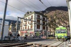 Trein - Interlaken - Zwitserland stock foto's