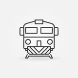 Trein lineair pictogram Stock Foto