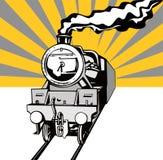 Trein met zonnestraal Royalty-vrije Stock Afbeelding