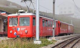 Trein op de bovenkant van MT Rigi Royalty-vrije Stock Fotografie