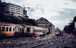 Trein oude hemel Azië Wallpepers Royalty-vrije Stock Foto