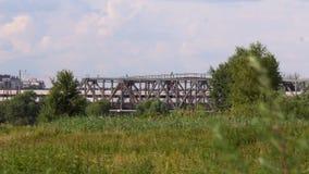Trein over de brug