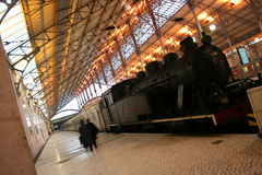 Trein in Rossio Royalty-vrije Stock Afbeelding
