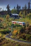 Trein in Slowakije royalty-vrije stock foto's