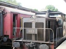 Trein/Sri Lanka royalty-vrije stock afbeeldingen