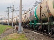 Trein van brandstoftanks Royalty-vrije Stock Afbeelding