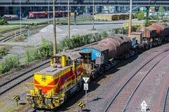 Trein van Thyssen-Staalbedrijf Royalty-vrije Stock Foto