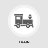 Trein vectorpictogram Royalty-vrije Stock Fotografie