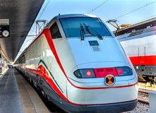 Trein Voortbewegingssanta lucia railway station venice italy Stock Foto