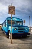 Treinador azul velho oxidado Imagem de Stock Royalty Free