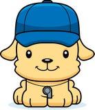 Treinador de sorriso Puppy dos desenhos animados Fotografia de Stock