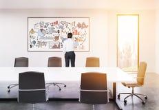Treinador do negócio que prepara-se para encontrar-se no escritório Imagens de Stock Royalty Free