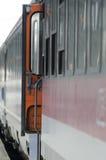 Treinador do trem com um estar aberto Fotografia de Stock