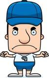 Treinador irritado Man dos desenhos animados Imagem de Stock Royalty Free