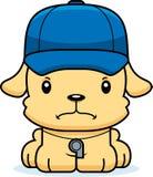 Treinador irritado Puppy dos desenhos animados Imagem de Stock