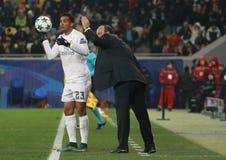 Treinador principal Rafael Benitez do Real Madrid fotos de stock